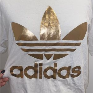 Adidas gold metallic tee